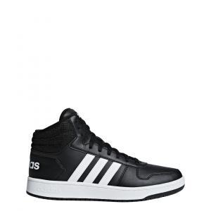 Boty Adidas HOOPS 2.0 MID CBLACK/FTWWHT/CBLACK