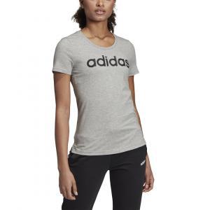 Tričko Adidas W LINEAR TEE 1 MGREYH/BLACK