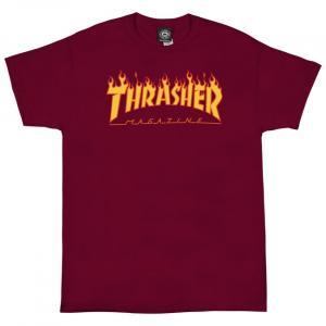 Tričko Thrasher FLAME LOGO CARDINAL