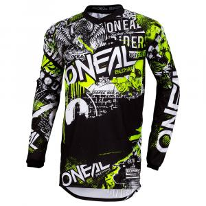 Pánský cyklodres Oneal ELEMENT Jersey ATTACK black/neon yellow