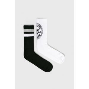 Ponožky Converse 2PP Men's Fashion Crew 360 Chuck patch, 108N White/Black