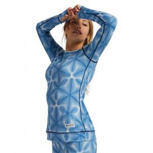 Termo tričko Burton MIDWEIGHT CREW BLUE DAILOLA SHIBORI