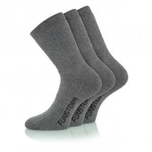 Ponožky Funstorm Sekul - 3 pack dark grey