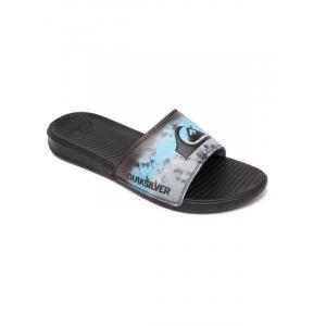 Pantofle Quiksilver BRIGHT COAST PRINT BLACK/BLUE/BLACK