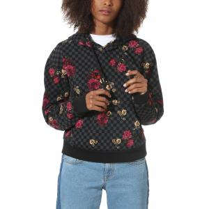 Mikina Vans BOTANICAL CHECK CROP HOODIE BOTANICAL CHECK