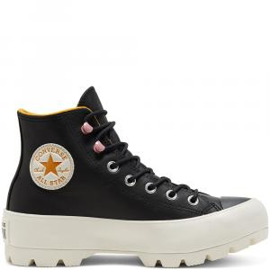 Boty Converse CHUCK TAYLOR ALL STAR LUGGED WINTER BLACK/SAFFRON YELLOW/EGRET