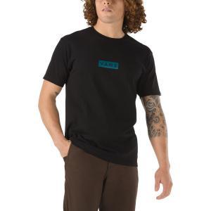 Tričko Vans CLASSIC EASY BOX BLACK/BLUE CORAL