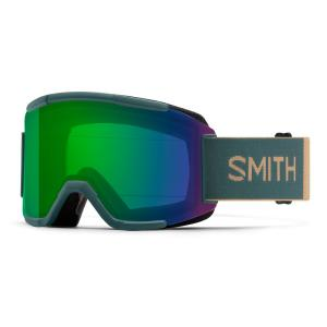 Lyžařské brýle Smith SQUAD SPRUCE SAFARI/CHROMAPOP EVERYDAY GREEN MIRROR
