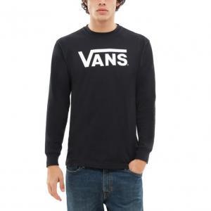 Tričko Vans CLASSIC LS BLACK-WHITE