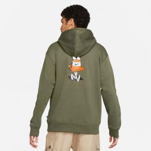 Mikina Nike SB CARGO KHAKI/TOTAL ORANGE gfx hoodie 3