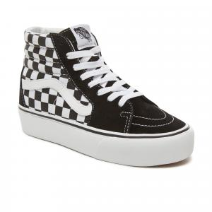 Boty Vans SK8-Hi Platform 2 CHECKERBOARD/TRUE WHITE