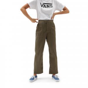 Kalhoty Vans KARINA STAR PANT Burnt Olive