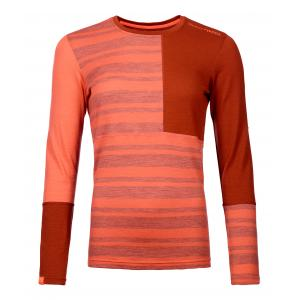 Termo tričko Ortovox W's 185 Rock'N'Wool Long Sleeve Coral