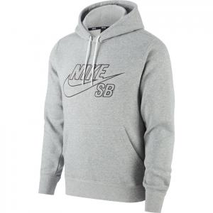 Mikina Nike SB PO HOODIE EMBROIDERY dk grey heather/black
