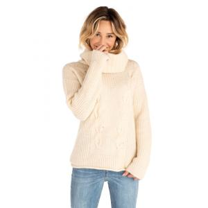 Svetr Rip Curl NEAH ROLL NECK SWEATER  CREAM PINK