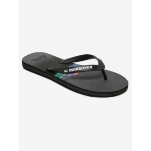 Žabky Quiksilver MOLOKAI HOLD DOWN BLACK/GREY/BLACK