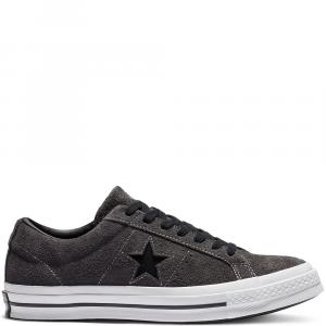 Boty Converse One Star almost black/black/white