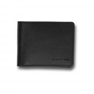 Peněženka Volcom Evers Leather Wallet Black