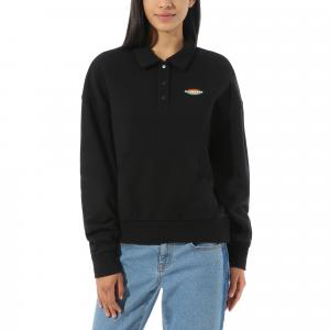 Mikina Vans DOME GROWN POLO FLEECE Black