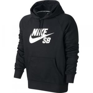 Mikina Nike SB SB icon hoodie black/white