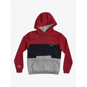 Mikina Quiksilver TROPICAL BLOCK HOOD YOUTH AMERICAN RED