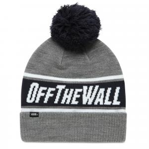 Čepice Vans OFF THE WALL POM BEANIE HEATHER GREY/DRESS BLUES