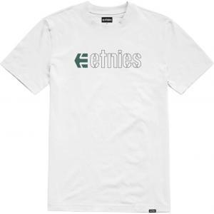 Tričko Etnies Ecorp Tee WHITE/BLACK/GREEN