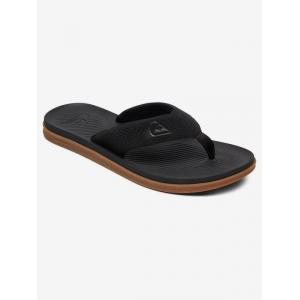 Žabky Quiksilver HALEIWA PLUS BLACK/BLACK/BROWN