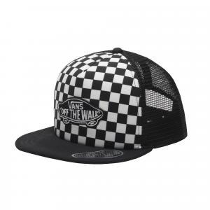 Kšiltovka Vans CLASSIC PATCH TRUCKER PLUS BOYS Black/White Checkerboard