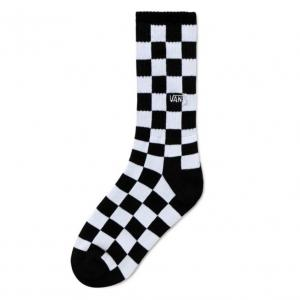 Ponožky Vans CHECKERBOARD CREW BOYS Black/White Check