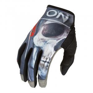 Cyklistické rukavice Oneal MAYHEM Glove BONES V.22 Black/Red