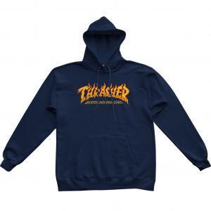 Mikina Thrasher Fire Logo Hoody Navy Blue