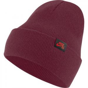 Čepice Nike SB CAP UTILITY BEANIE dark beetroot/chile red
