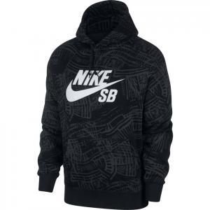 Mikina Nike SB AOP HOODIE black/black/white