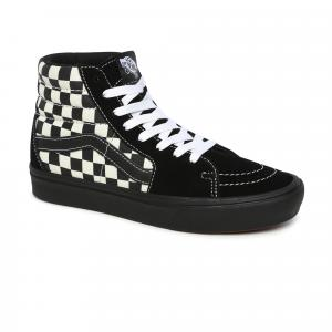 Boty Vans ComfyCush SK8-Hi (MIXED MEDIA) ANTIQUE WHITE BLACK