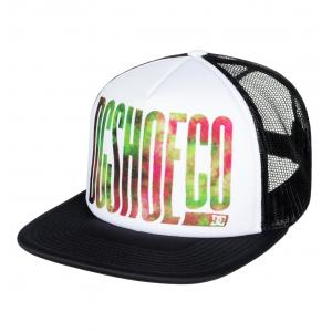 Kšiltovka DC TRIPPY TRUCKER SNOW WHITE