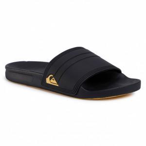 Pantofle Quiksilver RIVI SLIDE BLACK/BLACK/YELLOW