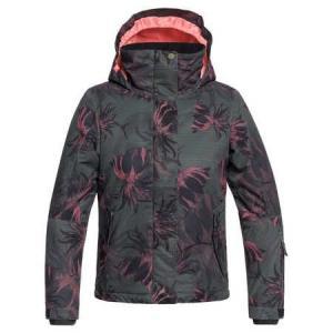 Zimní bunda Roxy JETTY GIRL JK TRUE BLACK_SWELL FLOWERS GIRL
