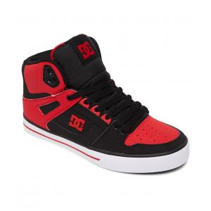 Boty DC PURE HIGH-TOP WC FIERY RED/WHITE/BLACK