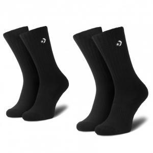 Ponožky Converse Sport inspired crew AW27 Black/white x 2