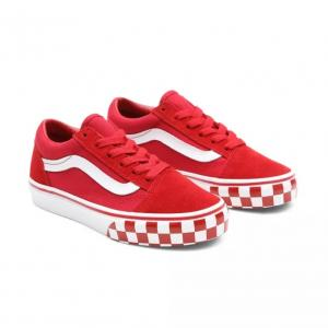 Boty Vans Old Skool CHECK BUMPER Chili Pepper/True White