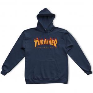 Mikina Thrasher Flame Logo Hoody Navy Blue