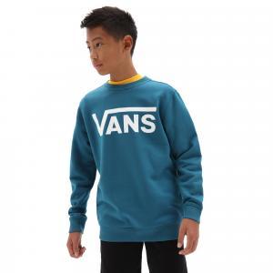 Mikina Vans CLASSIC CREW BOYS MOROCCAN BLUE/WHITE