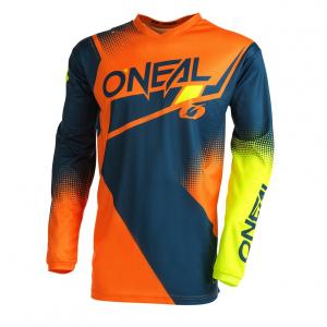 Pánský cyklodres Oneal Element Racewear  Blue/Orange/Neon Yellow