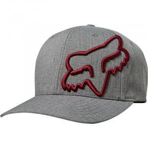 Kšiltovka Fox Clouded Flexfit Hat Grey/Red