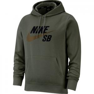 Mikina Nike SB ICON HOODIE PO ESSNL cargo khaki/yukon brown