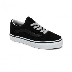 Boty Vans Old Skool (GLITTER SIDESTRIPE) BLACK TRUE WHITE