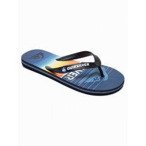 Žabky Quiksilver MOLOKAI HIGHLINE SLAB YOUTH BLACK/BLUE/BLUE
