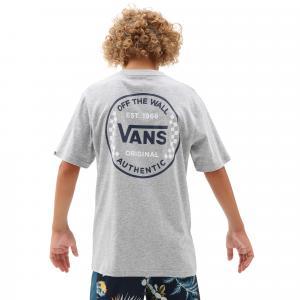 Tričko Vans AUTHENTIC CHECKER SS BOYS Athletic Heather