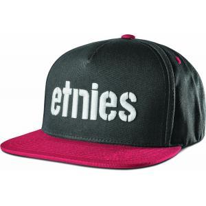 Kšiltovka Etnies Corp Snapback BLACK/RED